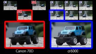 Sony alpha 6000 vs 70D