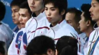 getlinkyoutube.com-Medal Ceremony 16th Asian Games Sepaktakraw Men Team