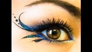 "getlinkyoutube.com-Glitter Gorgeous Simple Liner & ""Blue Irises' NYX"
