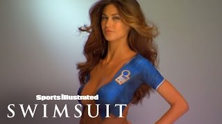 getlinkyoutube.com-World Cup Body Painting: Melissa Satta Wearing Nothing But Paint! | Sports Illustrated Swimsuit