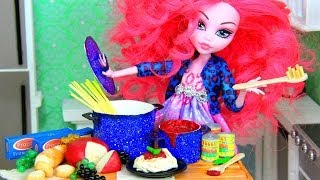 getlinkyoutube.com-How to Make Doll Food : Pasta - Doll Crafts