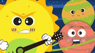 getlinkyoutube.com-The Planet Song ☀🌛 | Nursery Rhyme With Lyrics ★ ★ | Solar System Song For Children
