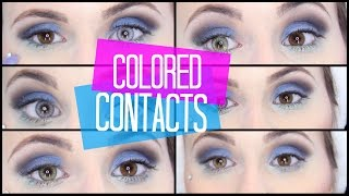 getlinkyoutube.com-Colored Contacts | Desio - 6 Colors on Dark Eyes! | Mariah McLean