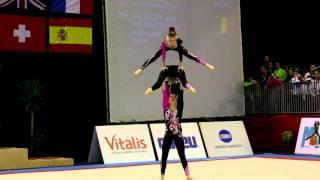 Gymnastics - FIG Acro World Cup Maia 2013 - BEL WG Balance - Ineke Laure Julie