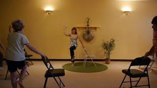 getlinkyoutube.com-Exercises to Get Rid of a Flabby Stomach: Chair Yoga sequences with Sherry Zak Morris, E-RYT
