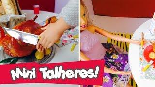 getlinkyoutube.com-Talheres (garfo, faca, colher) para bonecas Barbie e Monster High