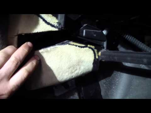Замена радиатора печки не снимая торпедо опель омега