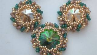 getlinkyoutube.com-Tutorial perline - Come incastonare un Rivoli Swarovski al Peyote con perline - Lezione 2