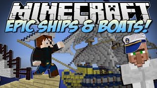 getlinkyoutube.com-Minecraft | EPIC SHIPS & BOATS! (Turn Anything into a WARSHIP!) | Mod Showcase