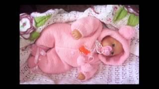 getlinkyoutube.com-комбинезон для новорожденных спицами