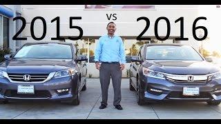 getlinkyoutube.com-2016 Honda Accord VS 2015 Accord Comparison V6 equipment review