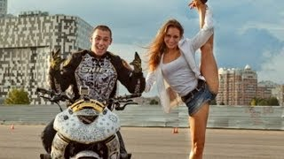 getlinkyoutube.com-Motorcycle Stunts for Girl - Стант Шоу для Девушки