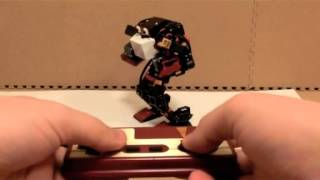 getlinkyoutube.com-Biped007 humanoid robot kit with 16 servo control board 6 MG995 Servo
