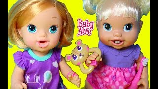 getlinkyoutube.com-Baby Alive NO BITING Baby Doll NEW TEETH Brushy Brushy Baby Bear Toy Video Funny & Cute Babies