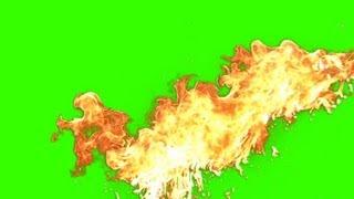 getlinkyoutube.com-Fire Explosion Effect - green screen 8