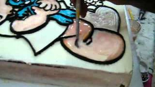 getlinkyoutube.com-Bolos Desenhados e Pintados