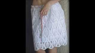 getlinkyoutube.com-Crochet Skirt - Ganchillo Falda - Gonna uncinetto - Croche saia