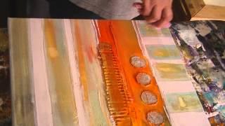 getlinkyoutube.com-Tutorial ,abstrakt acrylic painting, abstraktes Acrylbild