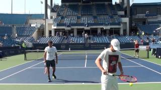 getlinkyoutube.com-Roger Federer Serve Practice at Cincinnati 2015 #2