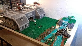 HUGE LEGO Star Wars The Clone Wars- Clone Base on Cardia MOC Build