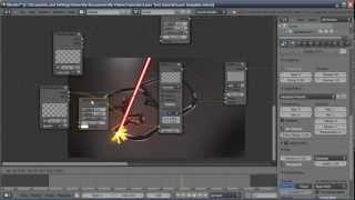 getlinkyoutube.com-Blender Tutorial: Laser Cutting Text Effect