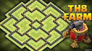 Clash of Clans - NEW Update BEST TH8 Farming BASE!! CoC Best Town hall 8 Farming BASE!!