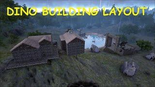 getlinkyoutube.com-Ark Survival Evolved Server Play Ep 11 DINO BUILDING LAYOUT