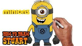 getlinkyoutube.com-How to Draw Stuart | Minions