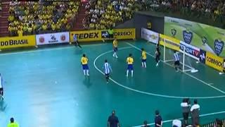 getlinkyoutube.com-Futsal - Brasil 11 x 1 Argentina - Grand Prix Futsal 2013