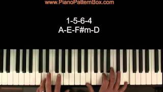 Mit nur 4 Tönen 36 Songs auf dem Klavier begleiten