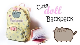 getlinkyoutube.com-Cute Doll Backpack Tutorial (Pusheen Inspired)