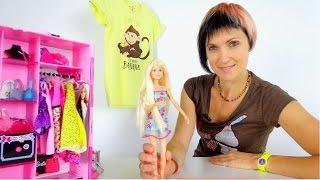 getlinkyoutube.com-Новое новогоднее платье для Барби. Маша и Барби идут в магазин. Видео для девочек.