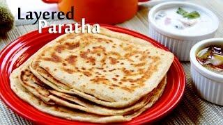 getlinkyoutube.com-Layered Paratha or Warqi Paratha Recipe   Indian Veg Main Course Recipes By Shilpi