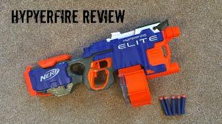 getlinkyoutube.com-Nerf N-Strike Elite HyperFire Unboxing, Review & Range Test