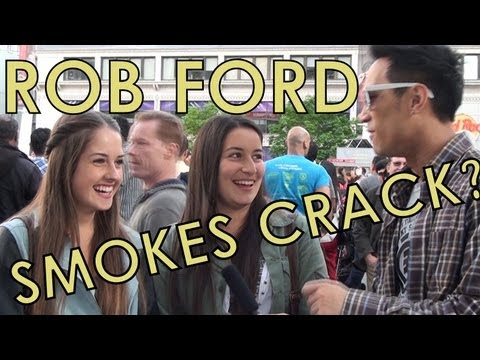 Rob Ford Smokes Crack? Dundas Square (Toronto) Reacts
