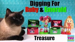 getlinkyoutube.com-Dig It Hunting For Ruby Emerald Gems Shopkins Shoppies Fun | PSToyReviews