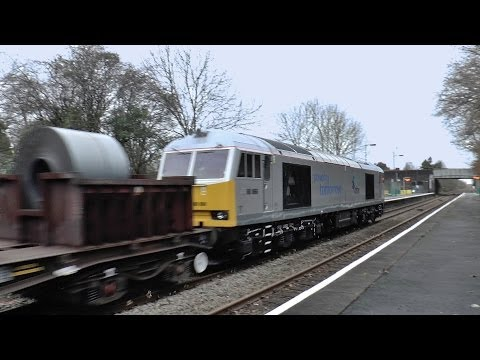 DBS Silver 60066 works the Margam to Trostre Coils and retn. 14/12/2013