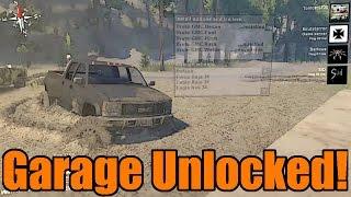 getlinkyoutube.com-Spin Tires | Multiplayer Mods | Garage Unlocked! + Sinking Mud Glitch