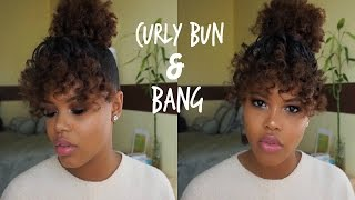 getlinkyoutube.com-Easy Curly Bang & Bun Tutorial | Holiday Hairstyle for Natural Hair
