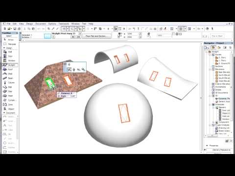 ArchiCAD 15 - Skylights - Introduction to the new skylight tool