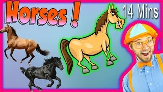 getlinkyoutube.com-Horses for Children - Learn Farm Animals for Kids. The Horse Song from Blippi