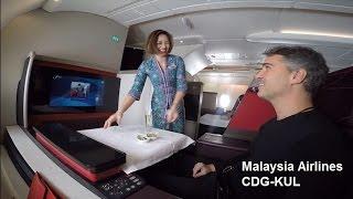 getlinkyoutube.com-Malaysia Airlines First Class A380  CDG-KUL (MAS21)