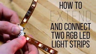 getlinkyoutube.com-How To Extend And Connect Two RGB LED Light Strips - superbrightleds.com