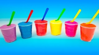 getlinkyoutube.com-Play Doh Surprise Color Yogurt cups colored, Angry Birds, Mickey Mouse, Spongebob, Peppa pig