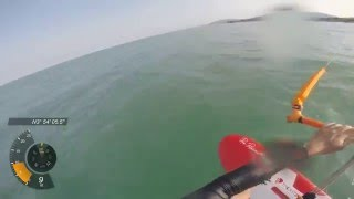 getlinkyoutube.com-Under 6 knots wind kite foiling at 17 knots - Liquid Force Elite 15m