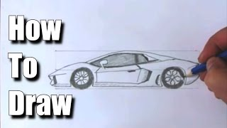 getlinkyoutube.com-How to Draw a Sports Car Lamborghini