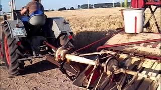 getlinkyoutube.com-Garben mähen mit Fahr Selbstbinder Deutz F2M 317