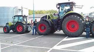 getlinkyoutube.com-Claas Tractor Axion 950 / 100ans @ Le mans