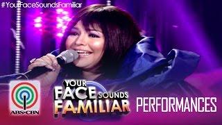 Your Face Sounds Familiar: Karla Estrada as Sharon Cuneta -