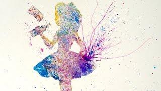 getlinkyoutube.com-Easy Acrylic Splatter Painting Alice The Looking Glass Art Crawl